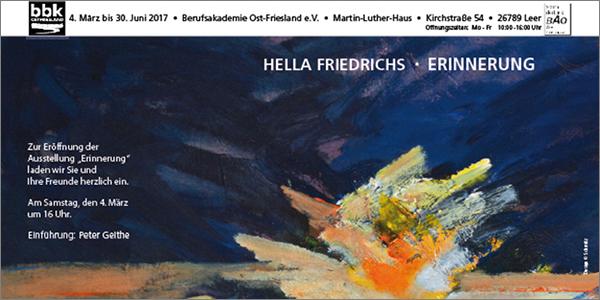 Hella Friedrichs – Erinnerung
