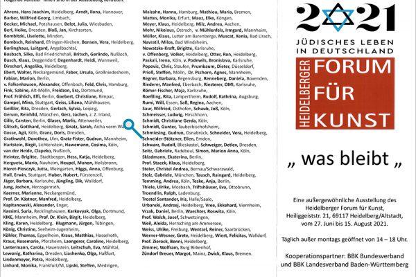 was bleibt – eine außergewöhnliche Ausstellung des Heidelberger Forum für Kunst